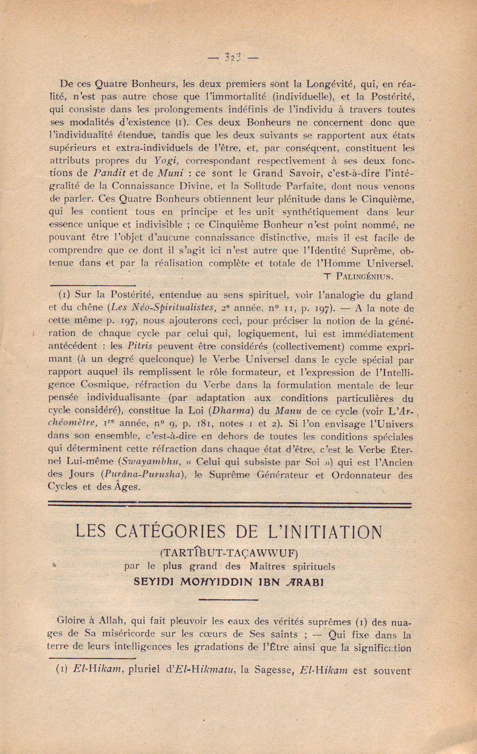 Les Catégories...1. 323